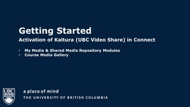 Thumbnail for entry Activate Kaltura (UBC Video Share) within Connect
