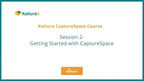 Getting Started with CaptureSpace