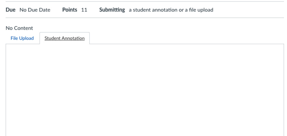 Blank annotation screen on student view