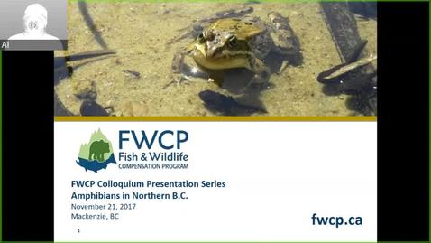 Thumbnail for entry FWCP Colloqium Presentation Series - Amphibians in Northern BC - November 21 2017
