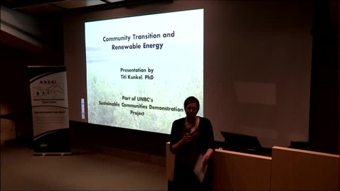 Thumbnail for entry April 10, 2015: Titi Kunkel - Community Transition and Renewable Energy