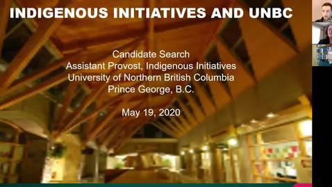 Thumbnail for entry Assistant Provost Indigenous Initiatives - Public Presentation
