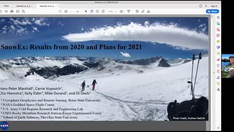 Thumbnail for entry NASA SnowEx Mission: Towards spaceborne monitoring of seasonal snow. - Hans-Peter Marshall, Boise State University - April 9 2021
