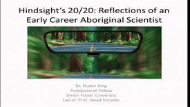 Thumbnail for entry Dr. Dustin King - Friday, March 10 2017 - Aboriginal Alumni Speaker Series