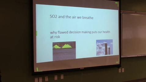 "Thumbnail for entry David Bowering & Greg Knox - ""Sulphur Dioxide Pollution: Health Impacts and Mitigation Options"""