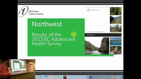 Thumbnail for entry Duncan Stewart - Northwest Results of the 2013 BC Adolescent Health Survey