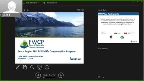 Thumbnail for entry Fish and Wildlife Compensation Program - November 27 2019