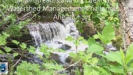 Thumbnail for entry Small Streams and Big Dreams: Watershed Management Challenges and Opportunities - Dr. John Rex, Hydrologist, BC Ministry of Forests, Lands, and Natural Resource Operations and Rural Development - October 19 2018