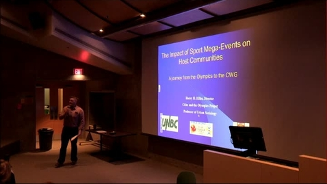 Thumbnail for entry January 30, 2015: Dr. Harry Hiller - The Impact of Sport Mega-Events on Host Communities