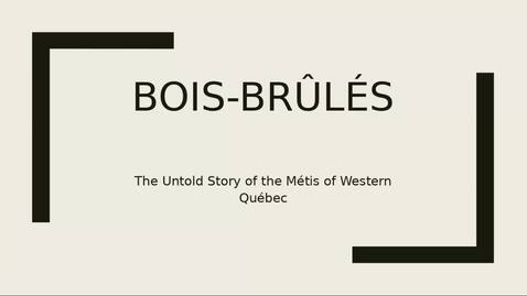Thumbnail for entry The Untold Story of the Metis in Western Quebec - February 12 2021