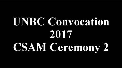 Thumbnail for entry CSAM Convocatio 2017
