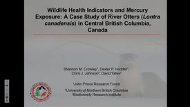Thumbnail for entry Wildlife Health Indicators and Mercury Exposure: A Case Study of River Otters (Lontra canadensis) in Central British Columbia, Canada. Shannon Crowley, JPRF