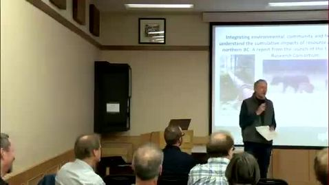 Thumbnail for entry A report from the launch of the UNBC Cumulative Impacts Research Consortium CIRC - October 30 2015 - Dr. Chris Buse, CIRC, UNBC