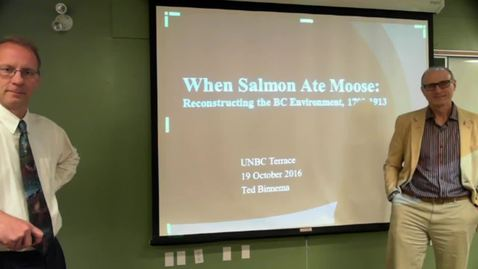"Thumbnail for entry Ted Binnema - ""When Salmon Ate Moose: Exploring the Reasons for the Absence of Moose in Northwestern America, 1793 - 1900"""