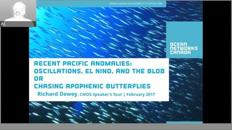 Thumbnail for entry Recent Pacific Anomalies: Oscillations, El Nino, and the Blob - Dr. Richard Dewey - NRESi March 1 2017