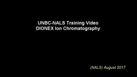 Thumbnail for entry NALS Ion Chromatography Training