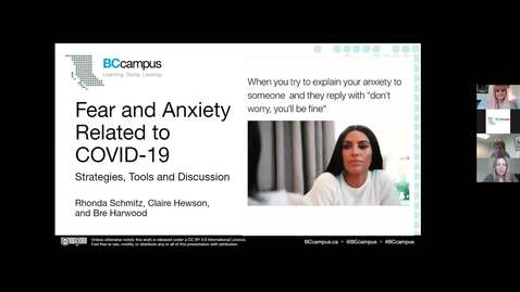 Fear & Anxiety related to COVID-19 (June 3, 2020)
