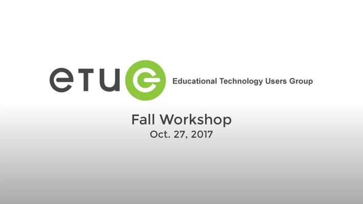 ETUG Fall 2017 Keynote: Mike Caulfield