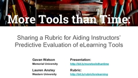Thumbnail for entry More Tools than Time: Sharing a Rubric for Aiding Instructors' Predictive Evaluation of eLearning Tools
