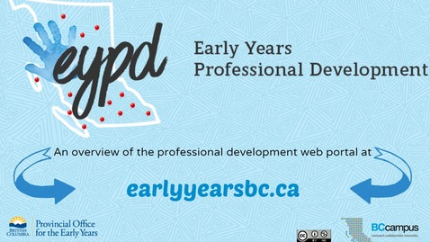 The Early Years Professional Development Web Portal – An Overview