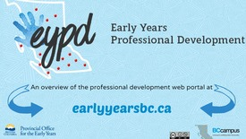 Thumbnail for entry The Early Years Professional Development Web Portal – An Overview