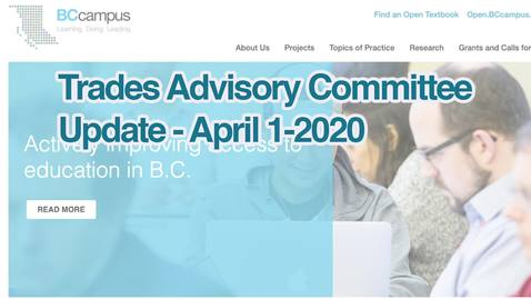 Thumbnail for entry Advisory Committee Update April-2020