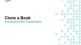 Thumbnail for entry How to Clone a Book