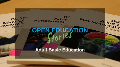 Thumbnail for entry Adult Basic Education Zed Cred Ahead