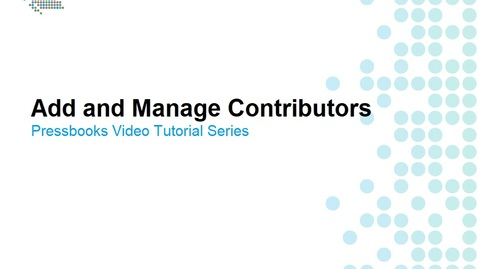 Thumbnail for entry How to Add and Manage Contributors