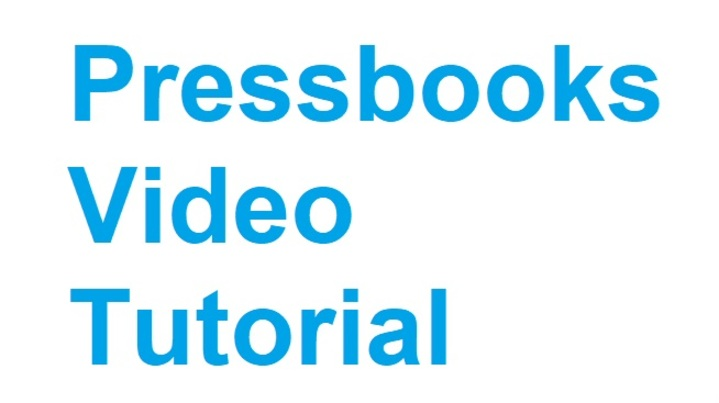 Thumbnail for channel Pressbooks Tutorials