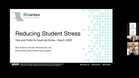 Thumbnail for entry Reducing Student Stress  - Tips and Tricks (May 6, 2020)