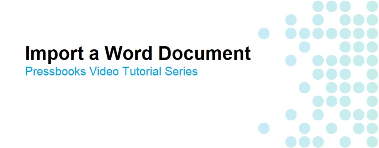 How to Import a Word Document