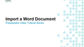 Thumbnail for entry How to Import a Word Document