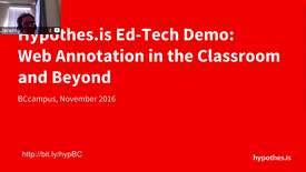 Thumbnail for entry Hypothes.is EdTech Demo