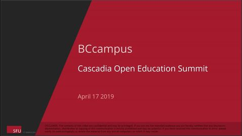 Thumbnail for entry 2019 Cascadia Open Education Summit - Keynote with Heather M. Ross