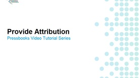 Thumbnail for entry How to Provide Attribution