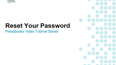 Thumbnail for entry How to Reset Your Password