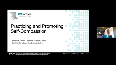 Promoting and Practicing Self-Compassion (May 26, 2020)