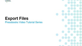 Thumbnail for entry How to Export Files