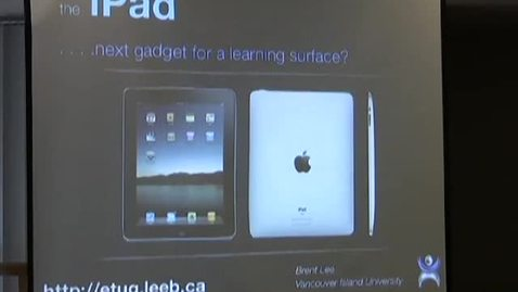 Thumbnail for entry iPad: The Next Gadget for a learning surface?
