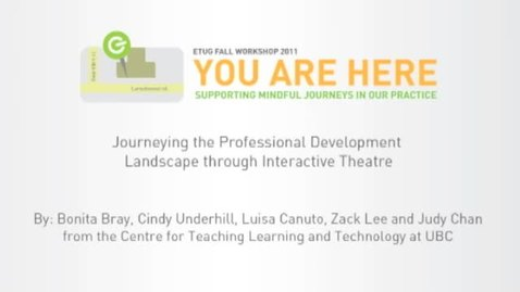 Thumbnail for entry Journeying the Professional Development Landscape through Interactive Theatre
