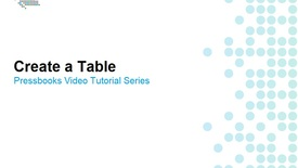 Thumbnail for entry How to Create Tables