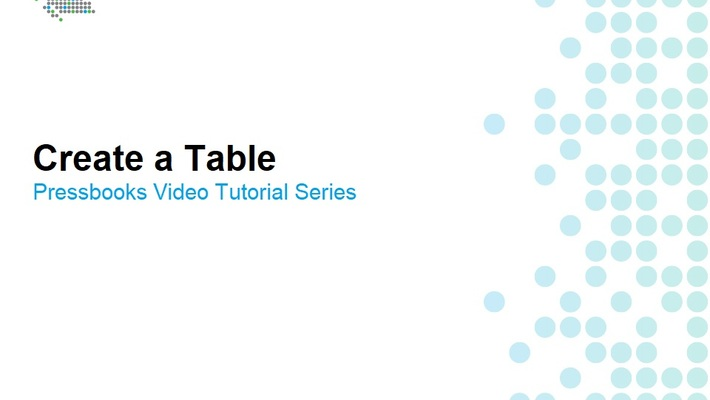 How to Create Tables