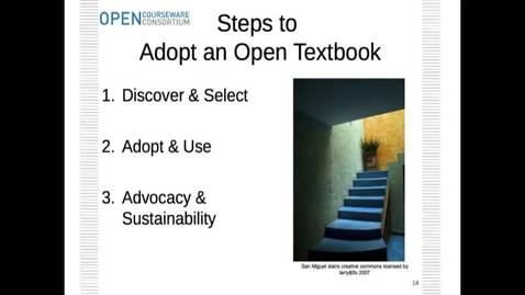 Thumbnail for entry Open Textbooks Workshop Online Discussion Part 2 (Step to Adopt an Open Textbook) (1).mp4