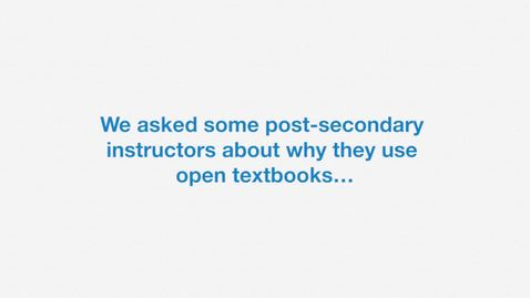 Thumbnail for entry Why Use Open Textbooks - Benefits for Students