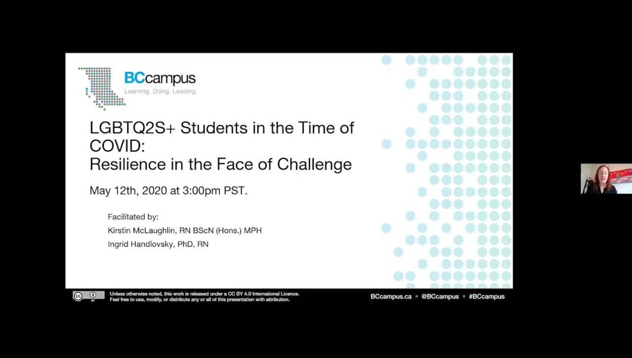 LGBTQ2S+ Students in the Time of COVID: Resilience in the Face of Challenge (May 12)