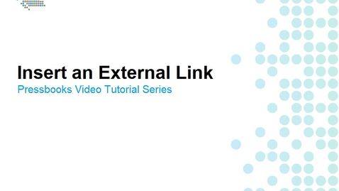 Thumbnail for entry How to Insert External Links