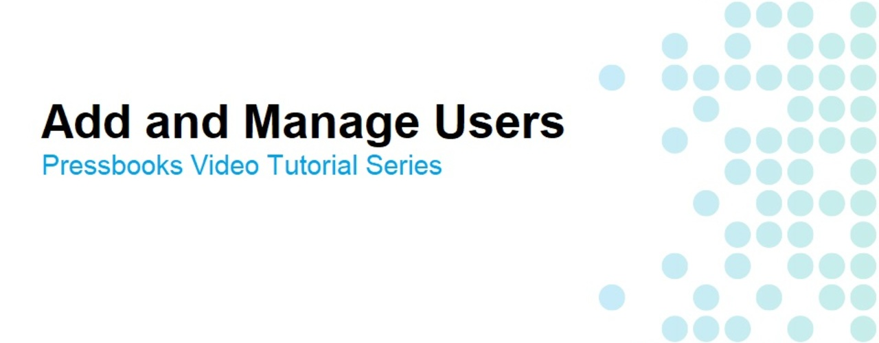 How to Add and Manage Users