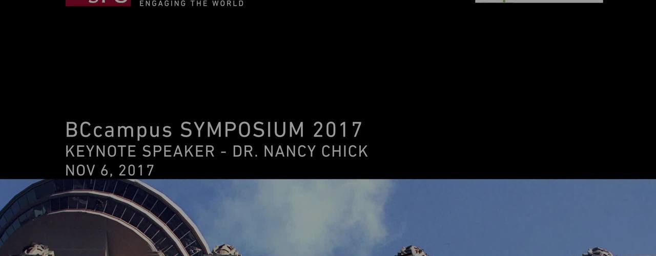 Symposium 2017 Keynote with Dr. Nancy Chick