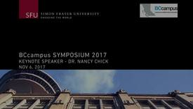 Thumbnail for entry Symposium 2017 Keynote with Dr. Nancy Chick